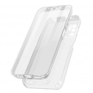 Schutzhülle für Xiaomi Redmi Note 10 5G, Vorder- + Rückseite ? Transparent