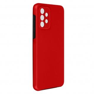 Schutzhülle für Samsung Galaxy A72, Vorder- + Rückseite ? Rot