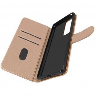Klappetui mit Geldbörse, Kunstlederhülle für Samsung Galaxy A72 ? Rosegold
