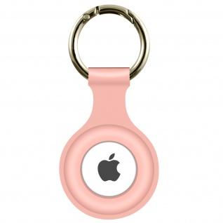 AirTag Soft Touch Schlüsselanhänger aus Silikon, mit Metallring ? Zartrosa