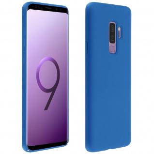 Halbsteife Silikon Handyhülle Samsung Galaxy S9 Plus, Soft Touch - Dunkelblau