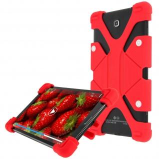 Universal Case mit Bumper Rot für Tablets von 7.9'' bis 9'' ? Standfunktion