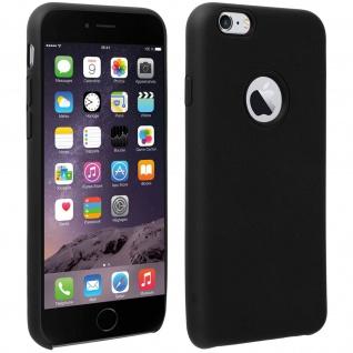 Halbsteife Silikon Handyhülle iPhone 6/6S, Soft Touch - Schwarz