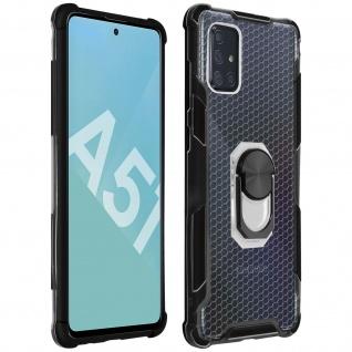Hybrid Handyhülle mit Ring Halterung für Galaxy A51 ? Schwarz