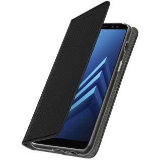 Samsung Galaxy A8 Flip Cover mit Kartenschlitz & Standfunktion - Schwarz