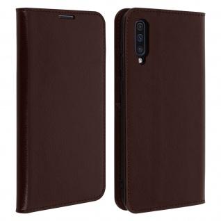 Business Leder Cover, Schutzhülle mit Geldbörse Samsung Galaxy A50 - Braun