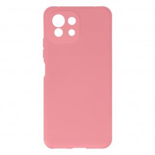 Halbsteife Silikon Handyhülle für Xiaomi Mi 11 Lite, Soft Touch ? Rosa