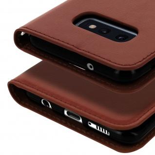 Flip Stand Cover Brieftasche & Standfunktion für Samsung Galaxy S10e - Braun - Vorschau 5
