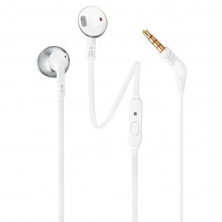 JBL T205 3.5 Klinkenstecker in-ear Kopfhörer mit Freisprecheinrichtung - Silber