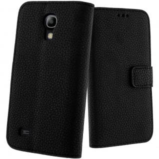 Schwarze Flip-Schutzhülle für Samsung Galaxy S4 Mini I9190