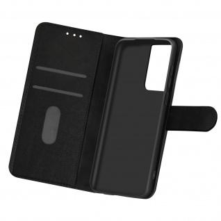 Flip Cover Geldbörse, Etui Kunstleder für Samsung Galaxy S21 Ultra ? Schwarz