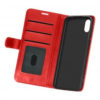 Flip Stand Case Brieftasche & Standfunktion für Samsung Galaxy A02 ? Rot