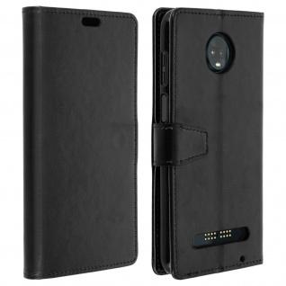 Flip Cover Stand Case Brieftasche & Standfunktion Motorola Moto Z3 Play- Schwarz