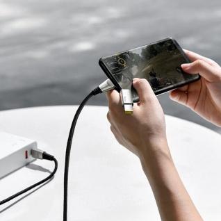 Lenovo USB-C 2-in-1, USB-C / quadratischer Stecker Kabel, Baseus - Schwarz - Vorschau 3