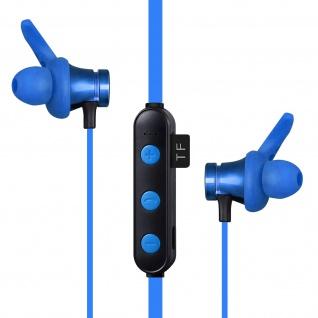 Wasserdichte Bluetooth Sport Kopfhörer Magnetische Ohrspitzen ? Blau