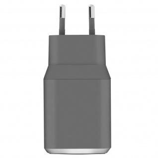 3A Wand-Ladegerät + 1.2m USB Typ-C Ladekabel, mit lebenslanger Garantie - Grau