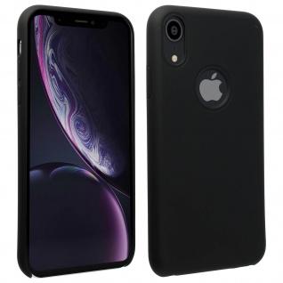 Halbsteife Silikon Handyhülle Apple iPhone XR, Soft Touch - Schwarz