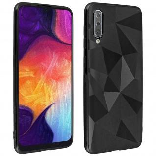 Holographische Handyhülle für Samsung Galaxy A50, Prism Design, Mocca - Schwarz