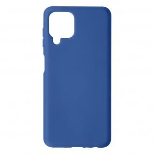 Halbsteife Silikon Handyhülle für Samsung Galaxy A22, Soft Touch ? Dunkelblau