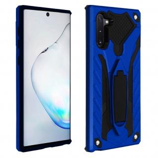Samsung Galaxy Note 10 Hybrid stoßfeste Schutzhülle mit Ständer - Blau