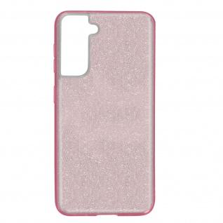 Schutzhülle, Glitter Case für Samsung Galaxy S21, shiny & girly Hülle â€? Rosa