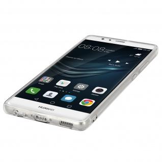 Unverbrüchliche Schutzhülle mit Spiegeleffekt für Huawei P9 - Silber - Vorschau 3