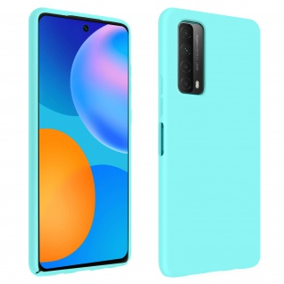 Halbsteife Silikon Handyhülle für Huawei P Smart 2021, Soft Touch - Türkisblau