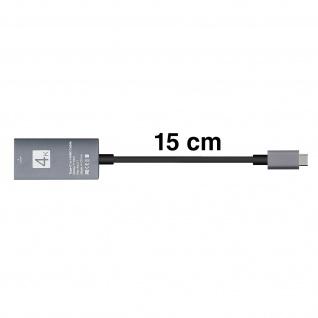 USB Typ-C auf HDMI 4K Adapter Kabel Kabellänge 15cm - Vorschau 3