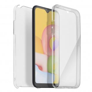 Schutzhülle für Samsung Galaxy A01, Vorder- + Rückseite ? Transparent