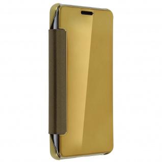 Goldene Clear View Schutzhülle für Samsung Galaxy J3 - Vorschau 5