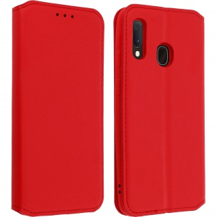 Kunstleder Cover Classic Edition Samsung Galaxy A20e - Rot