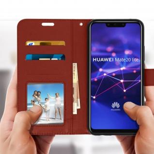 Flip Stand Cover Brieftasche & Standfunktion Huawei Mate 20 lite - Braun - Vorschau 3
