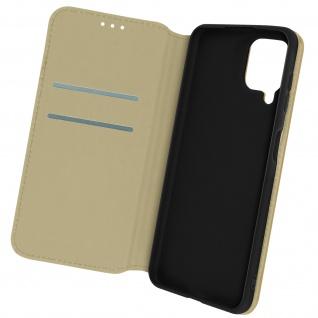 Kunstleder Cover Classic Edition, Klappetui für Samsung A22 ? Gold