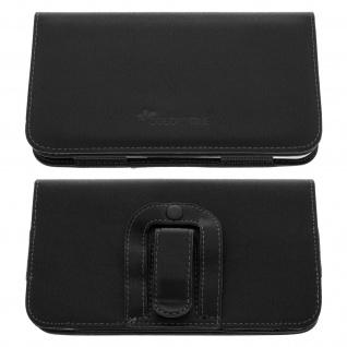 Colorfone - Gürteltasche mit Clip und Schlaufe Smartphones Größe XXL - Schwarz