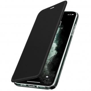 Spiegel Hülle, dünne Klapphülle für Apple iPhone 11 Pro Max - Schwarz