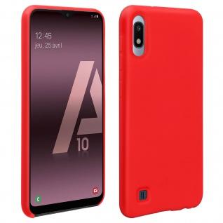 Halbsteife Silikon Handyhülle Samsung Galaxy A10, Soft Touch - Rot