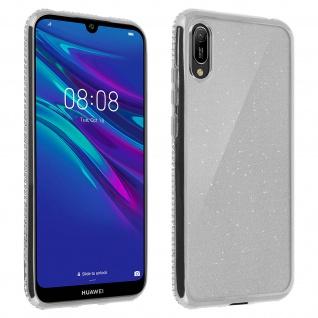 Schutzhülle, Glittery Case für Huawei Y6 2019, shiny & girly Hülle - Silber