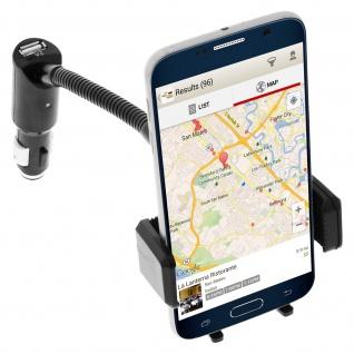 Forever - KFZ-Halterung für Smartphones- Zigaretten-Anzünder + 2x USB-Anschlüsse