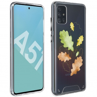 Stoßfeste Handyhülle für Samsung Galaxy A51, Made in France ? Herbstlaub Design