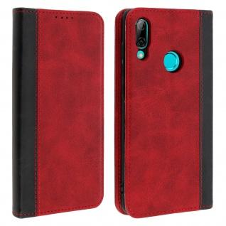 Kunstlederetui mit Kartenfächern für Huawei P Smart 2019/Honor 10 Lite - Rot