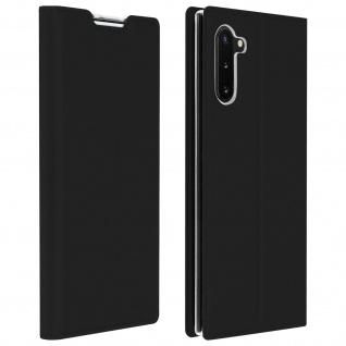 Flip Cover, Klappetui mit Kartenfach & Standfunktion Galaxy Note 10 Schwarz