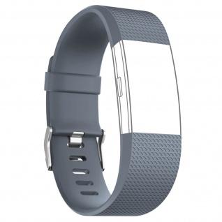 Silicone Sport Armband für FitBit Charge 2, mit Dornschließe ? Grau