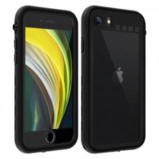 Redpepper Waterproof Handyhülle für Apple iPhone SE 2020 / 8 / 7 - Schwarz
