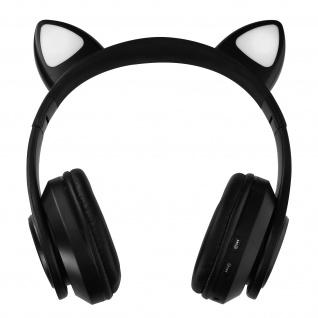 Katzenohren kabellose 5.0 Bluetooth Kopfhörer, Kitty Headset ? Schwarz - Vorschau 2