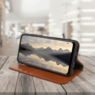 Business Leder Cover, Schutzhülle mit Geldbörse Huawei P Smart 2019 - Hellbraun - Vorschau 4