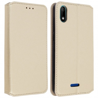 Kunstleder Cover Classic Edition Wiko Y60 - Gold