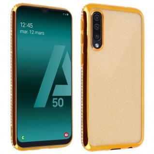Schutzhülle, Glittery Case für Samsung Galaxy A50, shiny & girly Hülle - Gold
