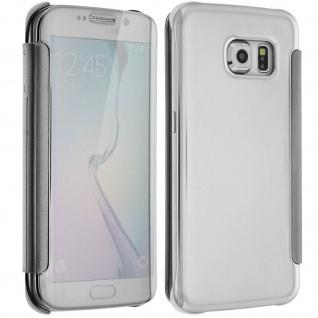Silberfarbene Clear View Schutzhülle für Samsung Galaxy S6 Edge