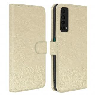 Flip Cover Geldbörse, Etui Kunstleder für Huawei P smart 2021 ? Gold