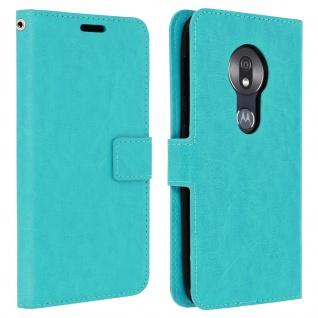 Flip Stand Cover Brieftasche & Standfunktion Motorola Moto G7 Play - Türkisblau